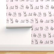Removable Water-activated Wallpaper Friendly French Bulldogs Bulldog Pug Puppies