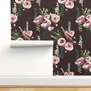 Removable Water-activated Wallpaper Floral Spring Bird Modern Wi Flower