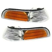 92-97 Crown Vic Park Corner Light Turn Signal Marker Lamp Left And Right Set Pair