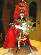 Pupo Sicilian Orlando 17 11/16in Marionette For Collection Pupi Made In New