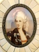 🔥 Antique 18th C. French Old Master Oil Painting Miniature - Antoine Pesne