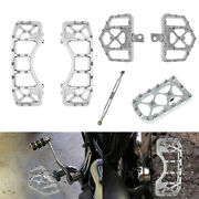 Chrome Mx Style Front Rear Wide Floorboard Linkage Brake Pedal Fit For Harley