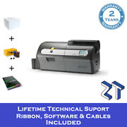 Zebra Zxp Series 7 Id Card Printer Single Sided With Starter Pack And Support