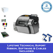 Zebra Zxp Series 9 Id Card Printer Single Sided With Starter Pack And Support