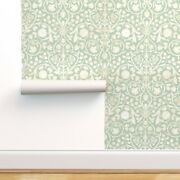 Wallpaper Roll Floral Damask Modern French Green Aqua 24in X 27ft