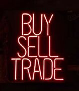 New Buy Sell Trade Neon Light Sign 24x20 Lamp Poster Real Glass Beer Bar