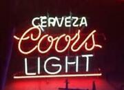 New Cerveza Coors Light Neon Light Sign 24x20 Lamp Poster Real Glass Beer Bar