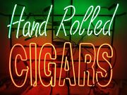 New Hand Rolled Cigars Beer Bar Neon Light Sign 24x20