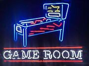 New Pinball Machine Game Room Neon Light Sign 24x20 Lamp Poster Real Glass