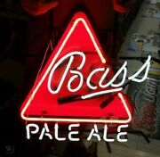 New Bass Pale Ale Neon Sign 20x16 Beer Cave Artwork Gift Real Glass Handmade