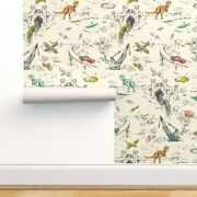Wallpaper Roll Hand Drawn Dinosaur Cars Helicopters Trains 24in X 27ft