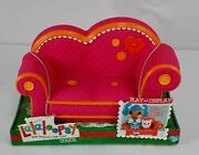 Retired Lalaloopsy Pink With Orange Trim Couch Fits 2 Dolls 12 Full Size New