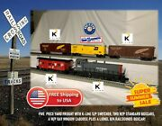 5-pack Yard Freight K-line Switcher, 2 Boxcars + Caboose And Railsounds Boxcar