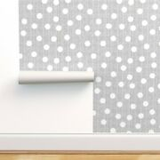 Peel-and-stick Removable Wallpaper And White Dot Dotted Nursery Decor Dots Polka