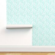 Peel-and-stick Removable Wallpaper Watercolor Turquoise Polka Dots Designed Dot