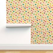 Peel-and-stick Removable Wallpaper Rainbow Polka Dots Simple Dotty Spots Spotty