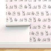 Peel-and-stick Removable Wallpaper Friendly French Bulldogs Bulldog Pug Puppies