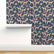 Peel-and-stick Removable Wallpaper Horse Girls Equestrian Horses Pony Floral
