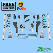 Suspension Lift Kit Zone 6 F And R For Dodge Ram 1500 Mega Cab 4wd Gas 2006-2007
