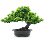 30xartificial Japanese Juniper Bonsai Tree Height 9.5inch For Home Office