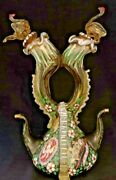 Vintage Hand Blown Oil And Vinegar Dispenser, Possibly From India, 10ht, 6.5wd