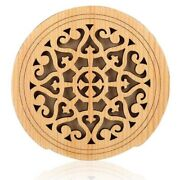 30xguitar Wooden Soundhole Sound Hole Cover Block Feedback Buffer Spruce Wood