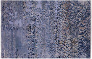 5and039 10 X 8and039 9 Wool And Silk Hand Knotted Abstract Rug - Q10325