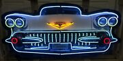 Cadillac Front End Neon Sign Gas And Oil / Cadillac Neon Signs / Cadillac Signs