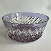 Waterford Alana Prestige Lavender Crystal Bowl Signed By Jim Oand039leary