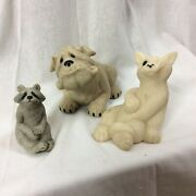 Quarry Critters Bully Dog Carla Cat Ralphie Racoon Figurine Second Nature