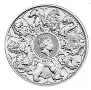 ✅ In-hand ✅ Fast Shipping 2 Oz. Queen Beasts 'completer' 9999 Fine Silver