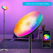 Smart Wifi Sky Led Floor Lamp Modern Torchiere Rgb Dimmable App/voice Control Us