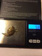 22k 22ct Chinese Gold Dragon Claw Tooth Pendant Tiger