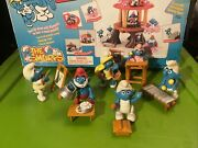 Smurf Merry Go Round Cib Complete With Set Of 5 Smurfs All Accessories Toys Disp