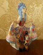 Malvina Character From The Tale Of Pinocchio Russian Porcelain Figurine 4132u