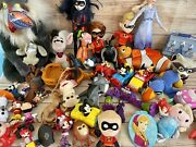 Disney Large Lot Of Toys Figures Plush Doll Incredibles Mickey Minnie Frozen