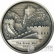 Great Wall Antique Landmarks Of Asia 2 Oz Silver Coin 5000 Riels Cambodia 2022