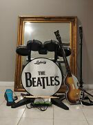 The Beatles Rock Band Xbox 360 Bundle Drums Pedal Guitar Microphones Game
