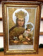 Antique 1904 Russian Orthodox Icon Print The Miraculous Image Of Our Lady