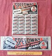 Rare Vintage Speedway Razor Blades Thin Steel Store Display Ad Usa And Mini Poster