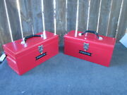 Vintage Proto Professional Red Metal Toolbox W/ Tray 14in. Usa Nice Lqqk