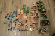 Melissa And Doug Puzzle World Wooden Train Track Lot 125+ Pieces