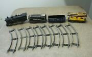 Mar Lines Train Set Vintage Locomotive And 3 Cars With 8 Track Sections