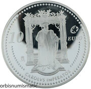 2006 Spain 10 Euro Charles V Holy Roman Emperor 925 Silver Proof Z488