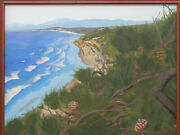 View From Torrey Pines Original 16 X 20 Acrylic Painting By L.j. Oakes