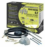 Seastar Ss14814 14and039 No Feedback 4.2 Rotary Steering Kit With Dual Quick Conne...