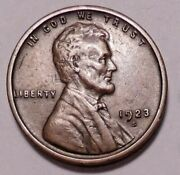 1923 S Lincoln Wheat Cent Penny -  Better Grade-nice Wheats Free Shipping
