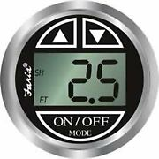 Faria Black 13750 Depth Sounder With Transom Mounted Transducer-chesapeake