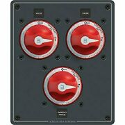Blue Sea Systems Traditional Metal Dual Bank Battery Management Panel
