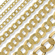 9ct Gold Curb Chain 16 18 20 22 24 Rope Pow Belcher Rolo Trace Link Free Box